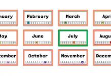 jul là tháng mấy