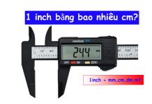 một inch bằng bao nhiêu cm